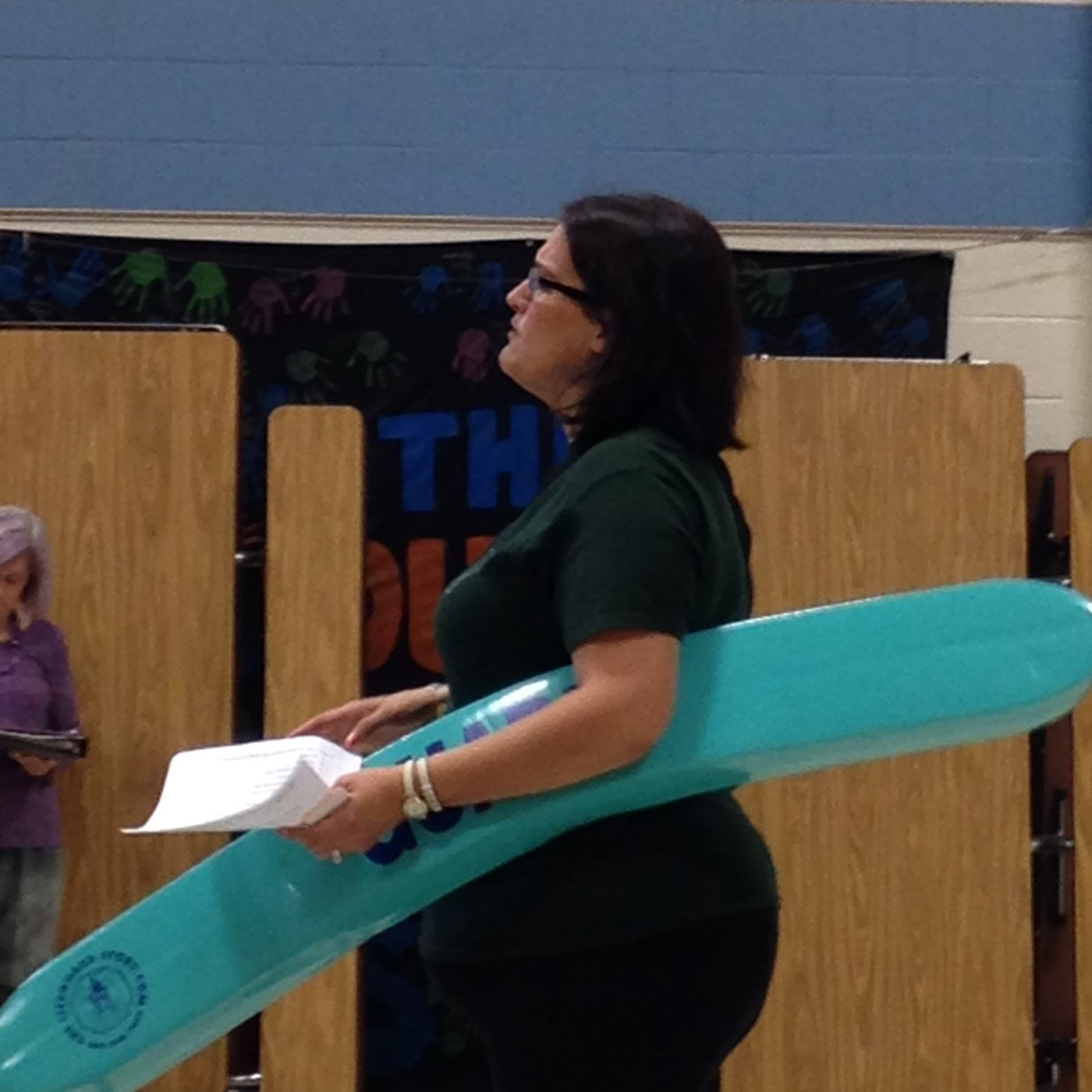 talking pool safety at local grade school