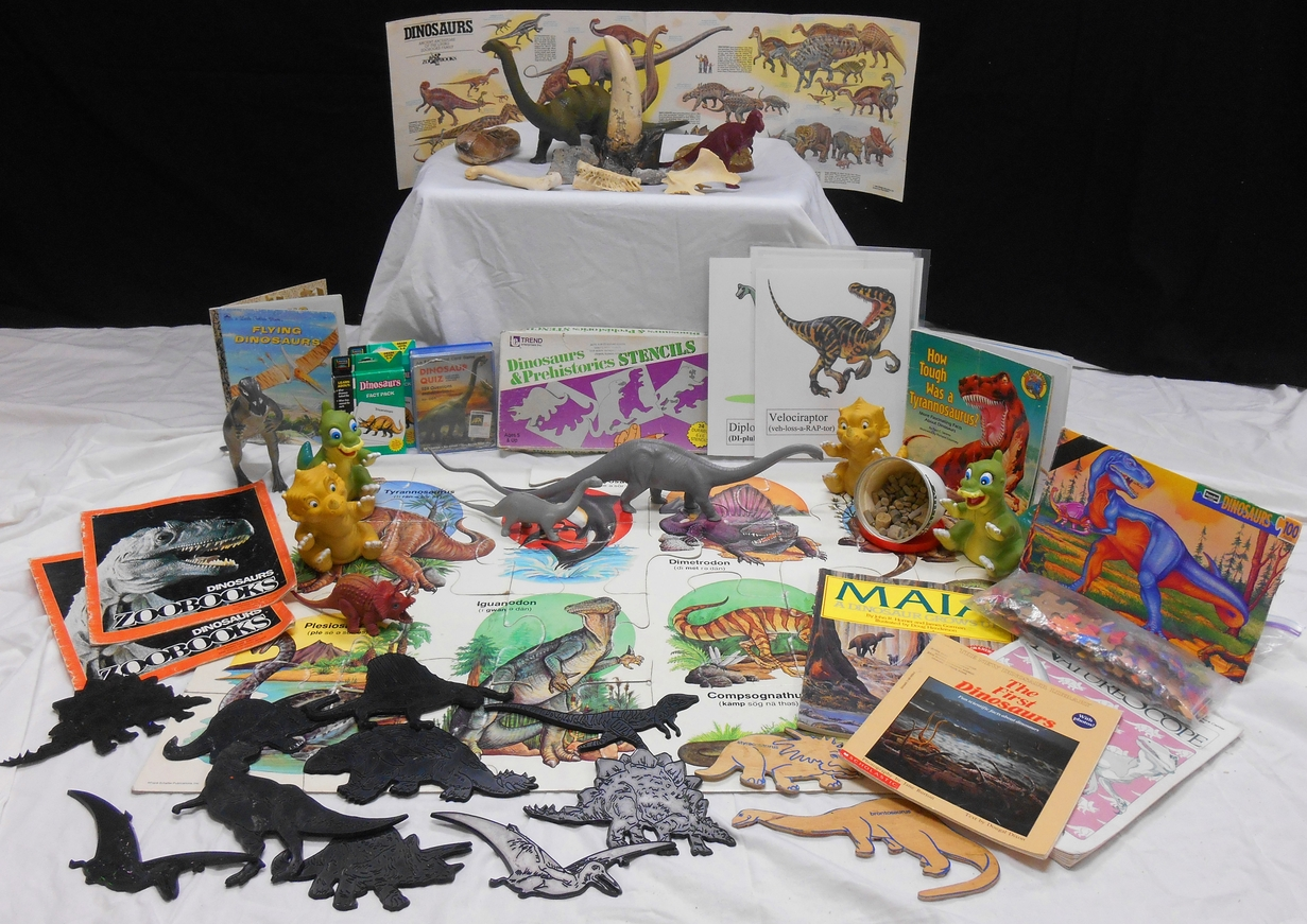 Dinosaur loan box contents